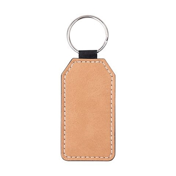 Picture of Rectangle Leather Keyring