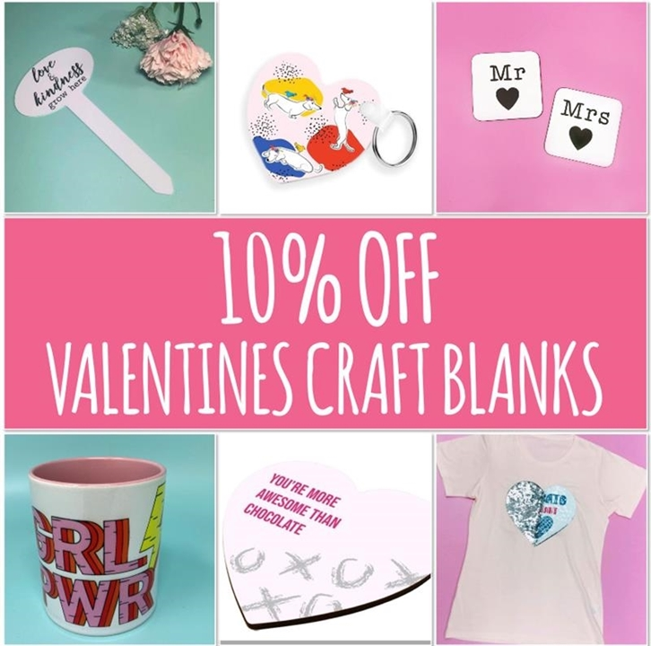 The power of love! 10% off Valentines Craft Blanks. ❤💕🎁
