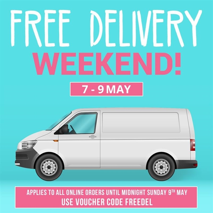 It's Free Delivery Weekend! 🚚